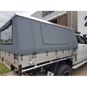 Canvas Soft Sided Hard Roof Canopy